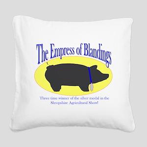 empress Square Canvas Pillow