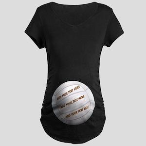 Beach Volleyball Maternity Dark T-Shirt