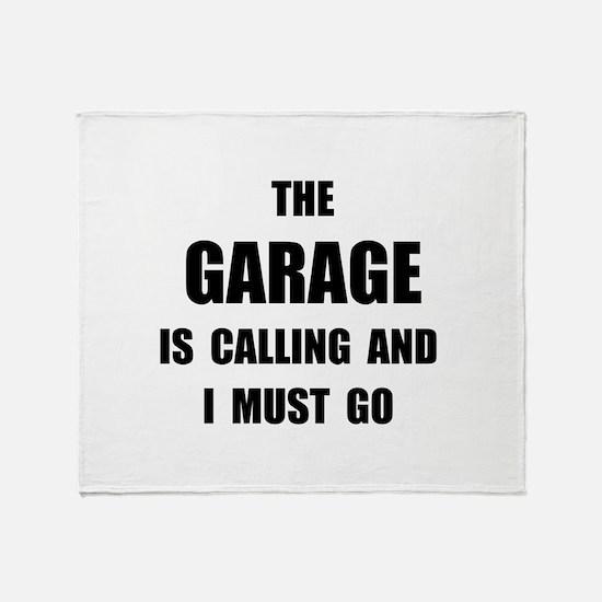 Garage Calling Throw Blanket