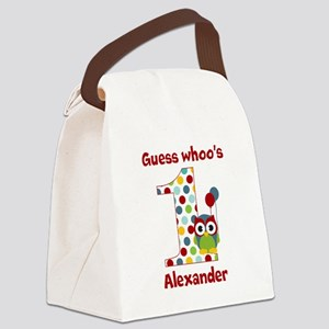 Custom guess whos 1 boy Canvas Lunch Bag
