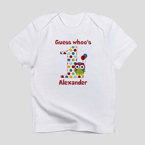 Custom guess whos 1 boy Infant T-Shirt