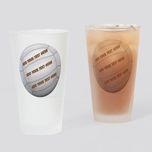 Beach Volleyball Drinking Glass
