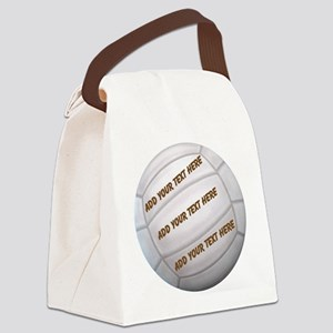 Beach Volleyball Canvas Lunch Bag