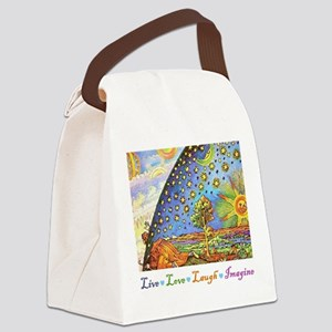 Live Love Laugh Imagine Canvas Lunch Bag