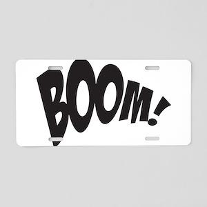 BOOM! Aluminum License Plate