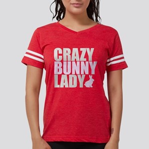 CRAZY BUNNY LADY 2 CLEAR cop Womens Football Shirt