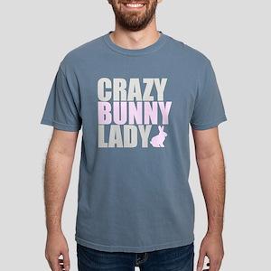 CRAZY BUNNY LADY 2 CLEAR Mens Comfort Colors Shirt