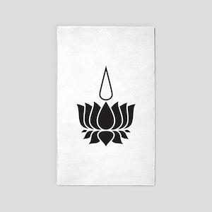 Lotus Flower 3'x5' Area Rug