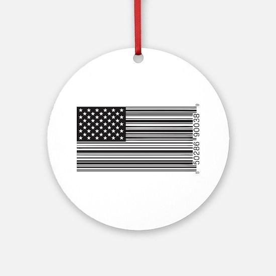 Capitalist Flag Ornament (Round)