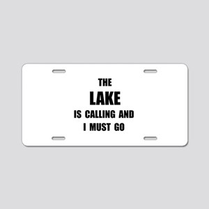 Lake Calling Aluminum License Plate