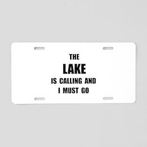 Lake Calling Aluminum License Plate