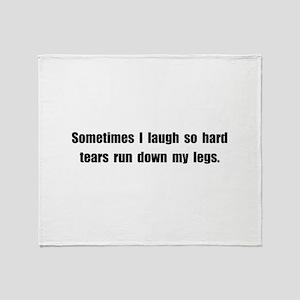 Laugh Tears Throw Blanket