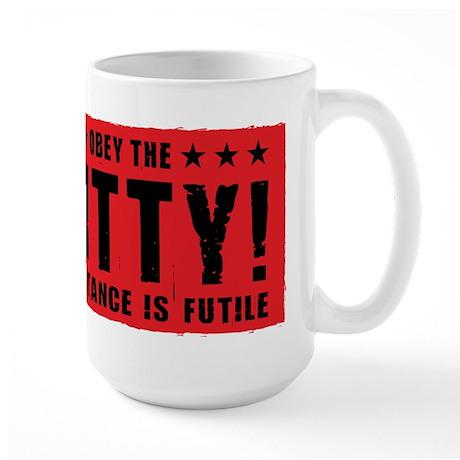 obey_kitty_coffee Mugs
