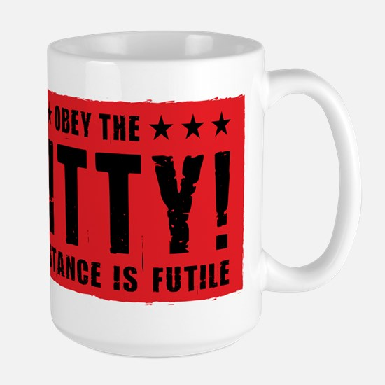 obey_kitty_coffee Mugs