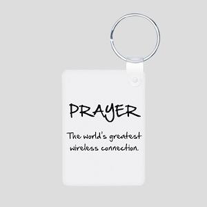 Prayer Wireless Aluminum Photo Keychain
