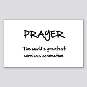 Prayer Wireless Sticker (Rectangle 10 pk)