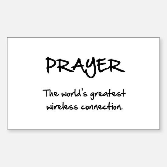 Prayer Wireless Sticker (Rectangle 10 pk)