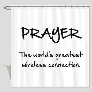 Prayer Wireless Shower Curtain