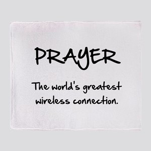 Prayer Wireless Throw Blanket
