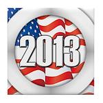 2013 Round Logo Tile Coaster