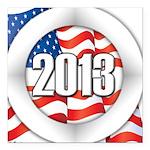 2013 Round Logo Square Car Magnet 3
