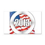 2013 Round Logo Rectangle Car Magnet
