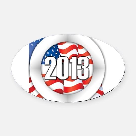 2013 Round Logo Oval Car Magnet