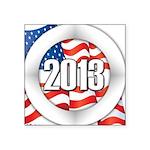 2013 Round Logo Square Sticker 3