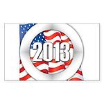 2013 Round Logo Sticker (Rectangle 50 pk)