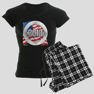 2013 Round Logo Women's Dark Pajamas