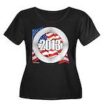 2013 Round Logo Women's Plus Size Scoop Neck Dark