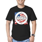 2013 Round Logo Men's Fitted T-Shirt (dark)