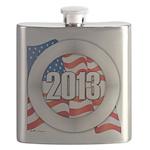 2013 Round Logo Flask