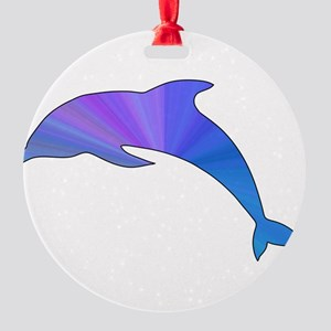 Colorful Dolphin Round Ornament