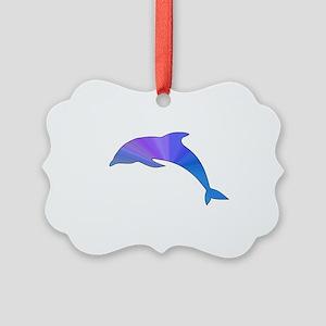 Colorful Dolphin Picture Ornament