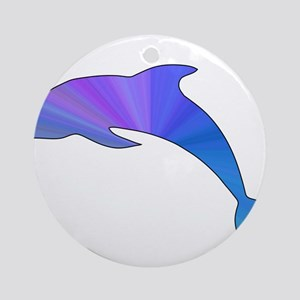 Colorful Dolphin Ornament (Round)