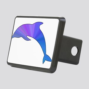 Colorful Dolphin Rectangular Hitch Cover