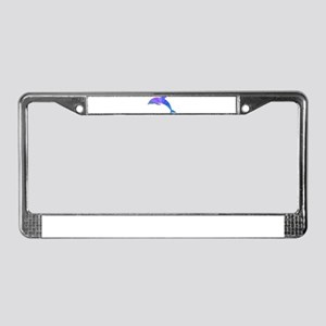 Colorful Dolphin License Plate Frame
