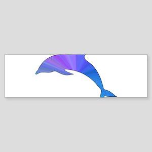 Colorful Dolphin Sticker (Bumper)