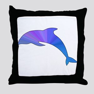 Colorful Dolphin Throw Pillow