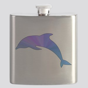 Colorful Dolphin Flask