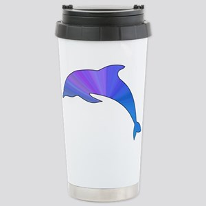Colorful Dolphin Stainless Steel Travel Mug