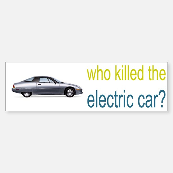 who killed the electric car? Sticker (Bumper)