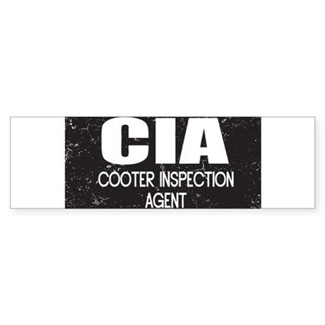CIA: Cooter Inspection Agent Sticker (Bumper)