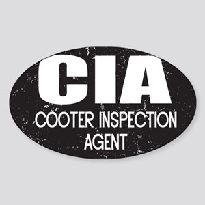 CIA: Cooter Inspection Agent Sticker (Oval)