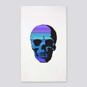 Colorful Skull 3'x5' Area Rug