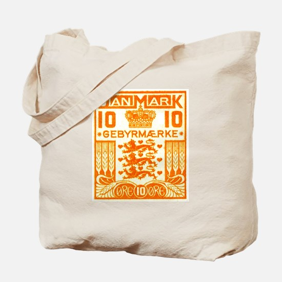 1934 Denmark National Coat of Arms Stamp Tote Bag