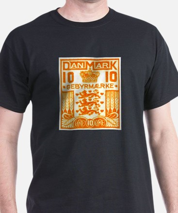 1934 Denmark National Coat of Arms Stamp T-Shirt