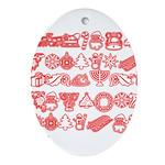 Christmas Gift Ornament (Oval)