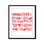 Christmas Gift Framed Panel Print